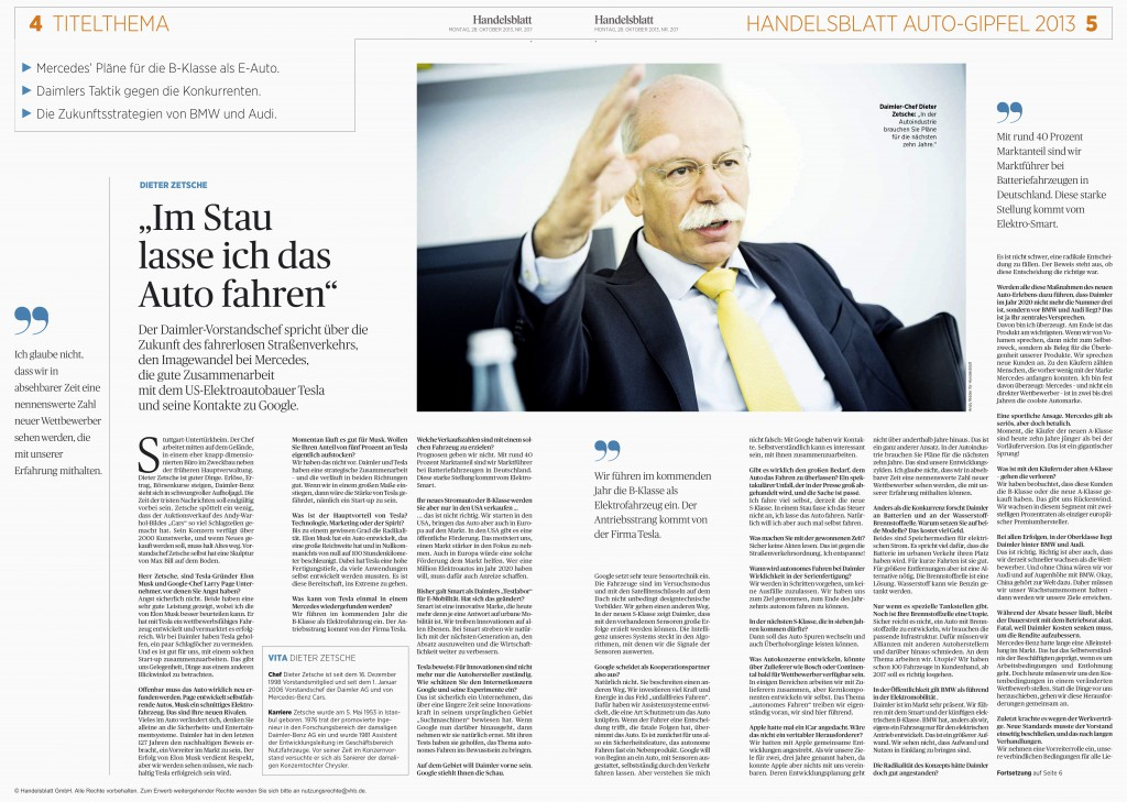Dieter Zetsche im Interview